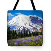 Sunrise Lupines Tote Bag
