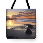 Sunrise On A Beach Near The Port Tote Bag