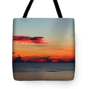 Sunrise On A Cloudy Morn Tote Bag