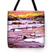 Sunrise On A Cold Day Tote Bag