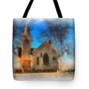 Sunrise On A Rural Church 04 Tote Bag