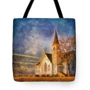 Sunrise On A Rural Church 13 Tote Bag