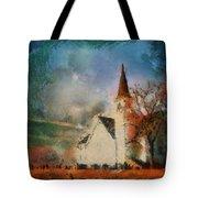 Sunrise On A Rural Church 18 Tote Bag