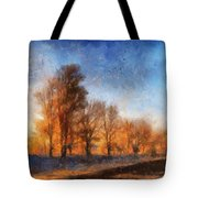 Sunrise On A Rural Country Road Photo Art 02 Tote Bag