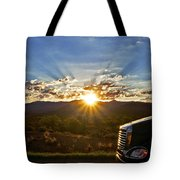 Sunrise On A Traffic Jam Tote Bag