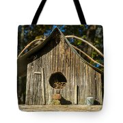 Sunrise On Birdhouse Homestead Tote Bag