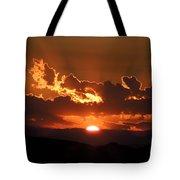 Sunrise On Fire Tote Bag