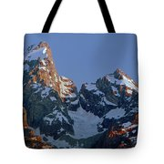 1m9333-h-sunrise On Grand Teton Tote Bag