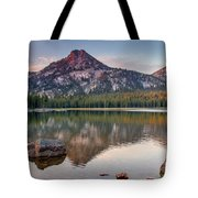 Sunrise On Gunsight Mountain Tote Bag