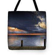 Sunrise On Key Islamorada In The Florida Keys Tote Bag
