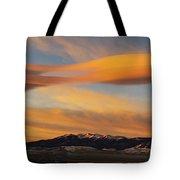 Sunrise On Lenticular Clouds Tote Bag