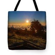Sunrise On Mount Mitchell Tote Bag