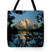 Sunrise On Mount Moran Tote Bag