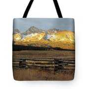 Sunrise On Sawtooth Mountains Idaho Tote Bag