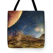 Sunrise On Space Tote Bag