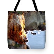 Sunrise On The Cliff Tote Bag