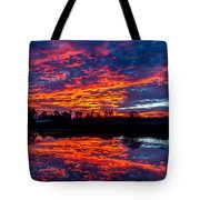Sunrise On The Fishing Hole Tote Bag