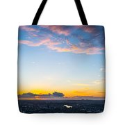 Sunrise On The Horizon Tote Bag