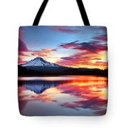 Sunrise On The Lake Tote Bag by Darren  White