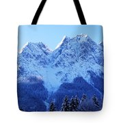 Sunrise On The Alps Tote Bag