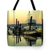 Sunrise On The Petaluma River Tote Bag by Bill Gallagher