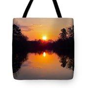 Sunrise On The Pond Tote Bag