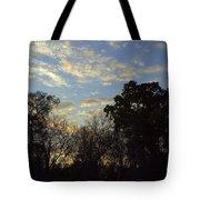Sunrise On The River Tote Bag