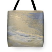 Sunrise On The River Ice #2 Tote Bag