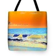 Sunrise On Tybee Island - Photopower 168 Tote Bag