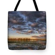 Sunrise On Yellowstone Lake Tote Bag