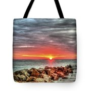Sunrise Over Breech Inlet On Sullivan's Island Sc Tote Bag
