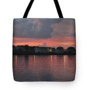 Sunrise Over Cape Fear River Tote Bag