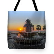 Sunrise Over Charleston Tote Bag