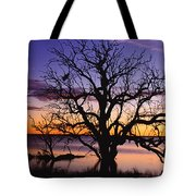 Sunrise Over Coongee Lakes With Moon.  Tote Bag