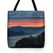 Sunrise Over Crown Point Tote Bag