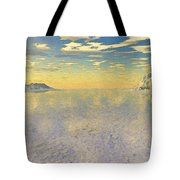 Sunrise Over Glacial Bay Tote Bag