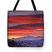 Sunrise Over Granada And The Alhambra Castle Tote Bag