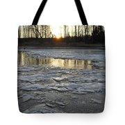 Sunrise Over Ice Tote Bag