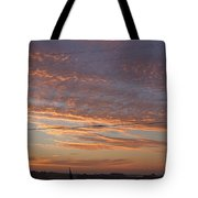 Sunrise Over Lake Manistee Tote Bag