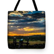 Sunrise Over Little Round Top Tote Bag