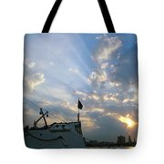 Sunrise Over Philadelphia  Tote Bag