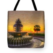 Sunrise Over Pinapple Fountain Tote Bag