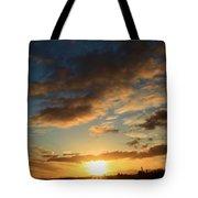 Sunrise Over Port Angeles Tote Bag