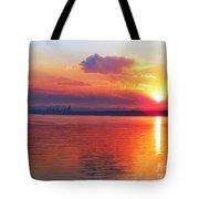 Sunrise Over Seattle Tote Bag