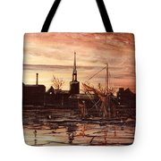 Sunrise Over St Marys Church And Rotherhithe London Tote Bag
