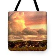Sunrise Over Strawberry Estate - Horizontal Tote Bag