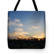 Sunrise Over The Cemetary Tote Bag