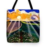 Sunrise Over The Darren Tote Bag
