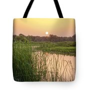 Sunrise Over The Marsh Tote Bag