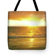 Sunrise Over The Pacific Ocean, Cabo Tote Bag